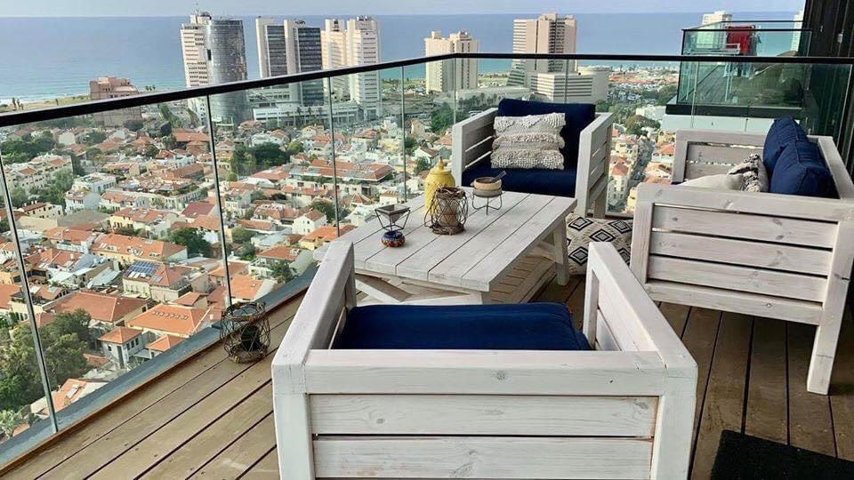 Sea view apartment in Lieber Tower in Neve Tzedek